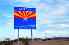 Arizona sign Stock Photography