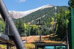 Arizona Snowbowl im Fahnenmast lizenzfreies stockbild