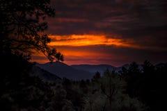 Arizona soluppgång Arkivbild
