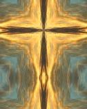 Arizona-Sonnenaufgangkreuz Stockfoto