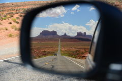 Arizona-/Staat Utah-Linie Stockfotos