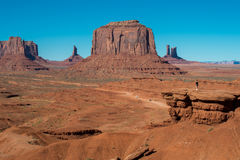 Arizona-/Staat Utah-Linie Lizenzfreie Stockfotos
