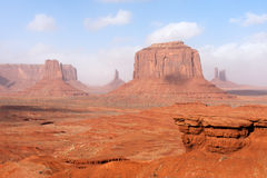 Arizona-/Staat Utah-Linie Lizenzfreies Stockfoto