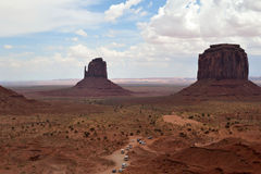 Arizona-/Staat Utah-Linie Stockfotos