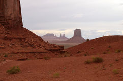 Arizona-/Staat Utah-Linie Stockbild