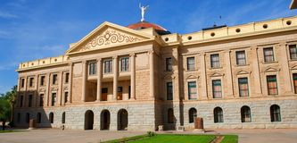 Arizona State Capital with windows, pillars Stock Images