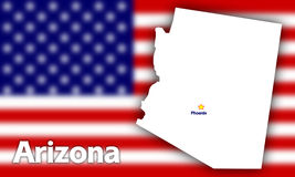 Arizona state contour Royalty Free Stock Photos