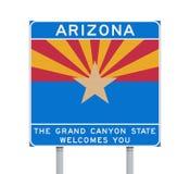 Arizona state road sign Royalty Free Stock Photo