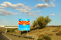 Arizona State Sign Stock Photo