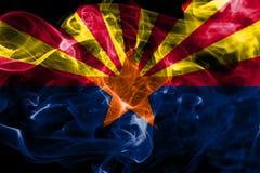 Arizona state smoke flag, United States Of America.  stock photo