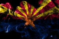 Arizona state smoke flag, United States Of America. On a black background stock photo