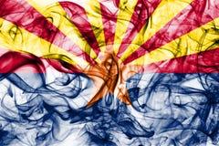 Arizona state smoke flag, United States Of America. On a white background royalty free stock images