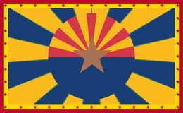Arizona state sun rays banner Stock Photography