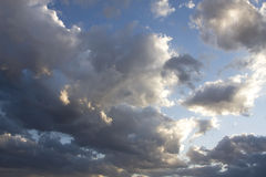 Arizona Storm Cloud Skies. Clouds over Phoenix, Arizona, are a rare occurrence as the area usually has clear blue skies Stock Photo
