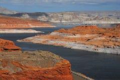 Arizona, strona, usa Powell Jeziorna panorama zdjęcie stock