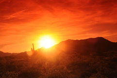 Arizona Sunset. Sunset in Central Arizona desert mountains Stock Photography