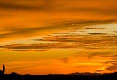 Arizona at Sunset. Santan Mountains (near Florence, Arizona) as the sun sets stock photography