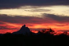 Arizona sunset. Sunset over Arizona desert and peak stock image