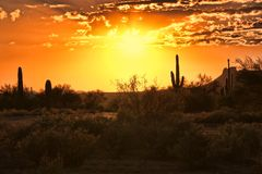 Arizona sunset stock image