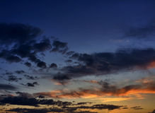 Arizona Sunset Clouds. This is a shot of clouds right above the setting sun Royalty Free Stock Photography