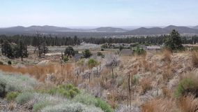 Arizona, Sunset Crater, Panning across a view of the Flagstaff area and the mountains in the south