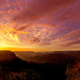 Arizona sunset Grand Canyon National Park Yavapai Point Royalty Free Stock Photos