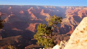 Arizona sunset Grand Canyon National Park Yavapai Point stock video footage