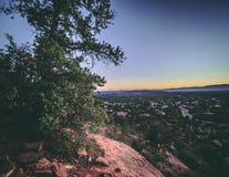 Arizona sunset trees landscape nature. Arizona sunset landscape trees nature mountains color light ground colors royalty free stock photography
