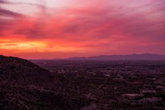 Arizona Sunset Scenery Royalty Free Stock Photos