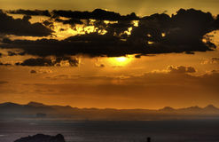 Arizona Sunset. Taken looking west from red mountain Royalty Free Stock Images