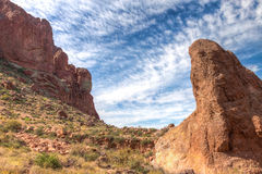 Arizona--Superstition Mountain Wilderness-Lost Dutchman State Park-Siphon Draw Trail, Stock Images