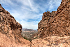 Arizona--Superstition Mountain Wilderness-Lost Dutchman State Park-Siphon Draw Trail,. Arizona--Superstition Mountain Wilderness-Lost Dutchman State Park-Siphon Royalty Free Stock Image