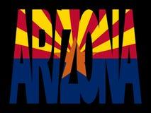 Arizona with their flag Stock Photography