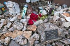 Arizona - Tucson - een graf om migranten in de woestijn volkomen te herinneren royalty-vrije stock afbeelding