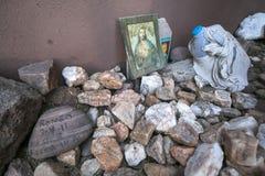 Arizona - Tucson - een graf om migranten in de woestijn volkomen te herinneren royalty-vrije stock foto's
