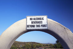 Arizona, Tucson, USA, April 9 2015, No Alcoholic Beverages, Saguaro National Park West, Arizona Stock Photo