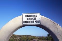 Arizona, Tucson, USA, April 9 2015, No Alcoholic Beverages, Saguaro National Park West, Arizona Stock Images