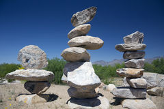 Arizona, Tucson, USA, April 8, 2015, rock sculptor Royalty Free Stock Photography