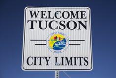 Arizona, Tucson, usa, Kwiecień 11, 2015, powitanie Tucson Arizona, granicy miasta, obraz stock