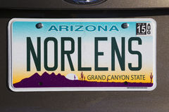 Arizona, Tucson, USA, vanity license plate says New Orleans Stock Image