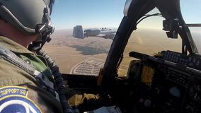 ARIZONA USA, JANUARY 2016, US Air Force A-10 Thunderbolt Aircraft At Start Cockpit View stock video