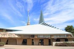 弗兰克・劳埃德・怀特: 教会在菲尼斯 免版税图库摄影