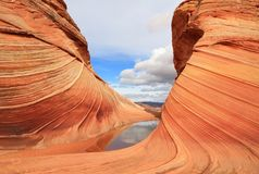 Arizona/Utah: Coyote Buttes - The WAVE after Rain Royalty Free Stock Image