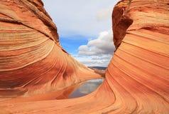 Arizona/Utah: Kojote Buttes - die WELLE nach Regen lizenzfreies stockbild
