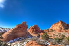 Arizona-Utah-Vermillion klippor nationell monument, s-prärievargbuttes-Pawhole Fotografering för Bildbyråer