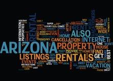 Arizona värden av det stora begreppet för händelseordmoln Arkivbild