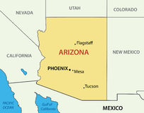 Arizona - vector map of state Stock Images