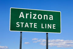 Arizona-Verkehrsschild Stockbild