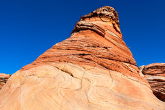 Arizona-Vermillion Cliffs Wilderness-North Coyote Buttes-The Wave. Royalty Free Stock Photo