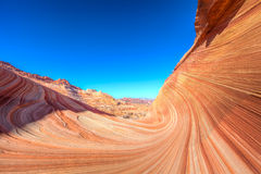 Arizona-Vermillion Cliffs Wilderness-North Coyote Buttes-The Wave. Stock Image